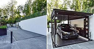 طراحی خلاقانه پارکینگ مخفی
