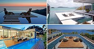 6 ایده طراحی استخر با پلت فرم های جزیره ای