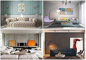 30 نمونه از چگونگی به کار بردن تابلوها در دکوراسیون داخلی خانه