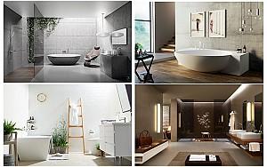 25 نمونه طراحی داخلی سرویس بهداشتی مدرن