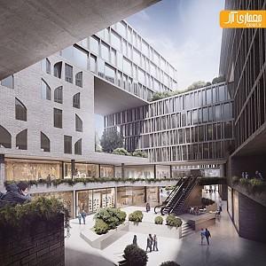 معماری مجتمع مسکونی- تجاری در مشهد