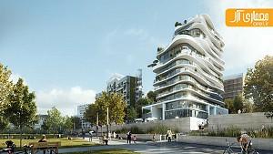 طراحی برج مسکونی نامتقارن، توسط گروه معماری MAD
