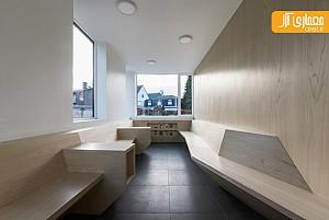 طراحی داخلی فضای درمانی، با استفاده از متریال چوب