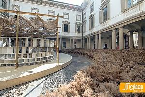 طراحی غرفه فرهنگ روستاهای آفریقا در میلان