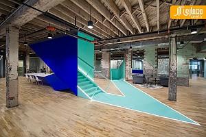طراحی داخلی دفتر اداری صنعتی