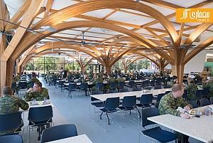 معماری و طراحی داخلی سالن غذاخوری نظامی