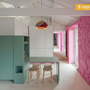 طراحی داخلی و بازسازی خانه روستایی
