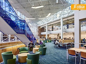 بازسازی و طراحی داخلی کتابخانه ای در آمریکا