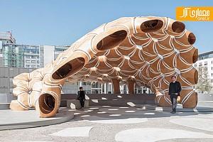 ساختار منحصر به فرد پاویون چوبی در آلمان