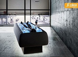 طراحی خلاقانه تخت خواب به صورت استخر خشک