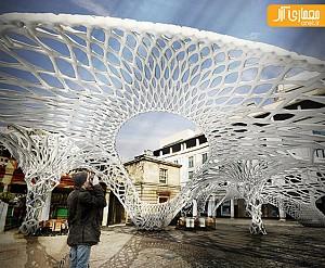 طراحی روبات و ساخت سازه های موقت معماری با مواد پلیمری+ ویدیو