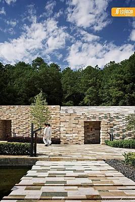 استفاده ی خلاقانه ازمتریال  سنگ در  معماری