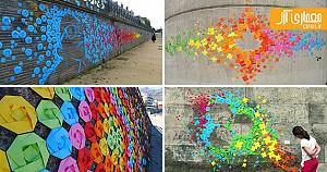 اوریگامی های رنگی در طراحی شهری