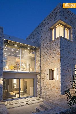 معماری ویلای سنگی و طراحی داخلی بی نظیر آن