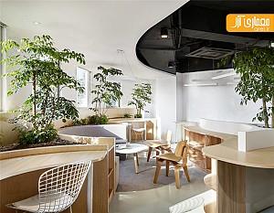 طراحی داخلی دفتر اداری با استفاده از گیاهان