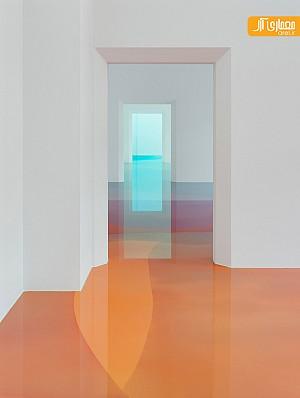طراحی داخی موزه با ترکیب رنگ های آبرنگی