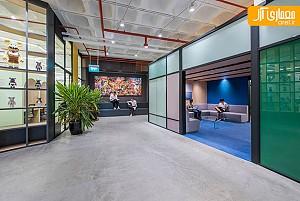 طراحی داخلی دفتر خدمات تحویل مواد غذایی در سنگاپور