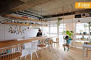 بازسازی و طراحی داخلی منزل یک معمار