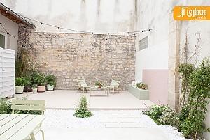 بازسازی حیاط قدیمی و ایجاد فضایی دلنشین