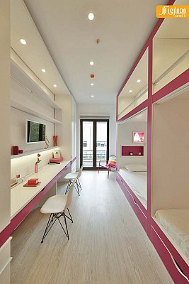 طراحی داخلی خوابگاه دختران در استانبول