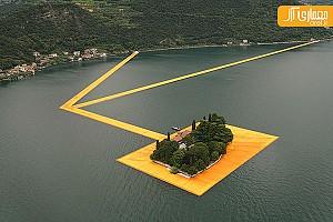 طراحی اسکله شناور دریاچه آیزئو ایتالیا: ایده ای برای نمایشگاه های موقت