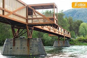 طراحی پل عابر پیاده بر روی رودخانه