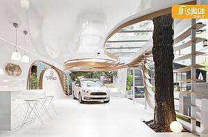 ترکیب معماری و طبیعت در طراحی غرفه کمپانی ford