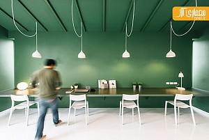 طراحی داخلی دفتر اداری سبز