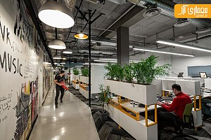طراحی داخلی خلاقانه دفتر اداری هارمونیک