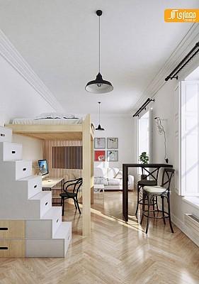 خلاقیت در طراحی داخلی آپارتمان با متراژ 30 مترمربع!
