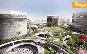 طراحی ایستگاه حمل و نقل زیر سقف لنداسکیپ