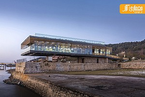 معماری و طراحی داخلی کتابخانه بر روی اسکله