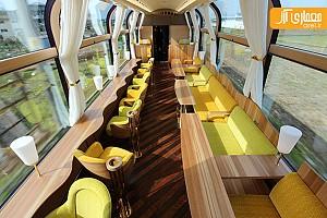 طراحی داخلی قطار گردشگری در ژاپن