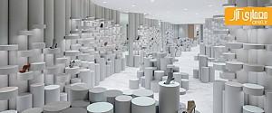 طراحی منحصر به فرد  فضاهای داخلی  مجتمع تجاری