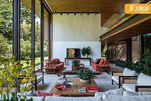 معماری و طراحی داخلی خانه ای با مهندسی مدرن