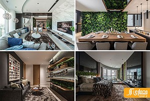 طراحی و دکوراسیون داخلی آپارتمانی برای یک عکاس