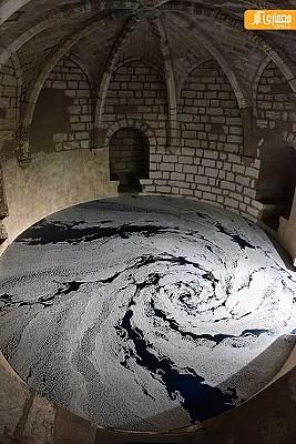 خلاقیت در طراحی کف قلعه، توسط ذرات نمک