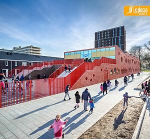 طراحی مدرسه ابتدایی با ایجاد تفاوت در منظر شهری