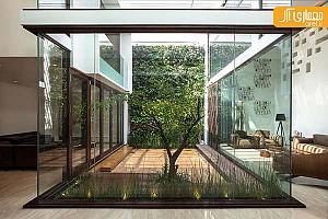 معماری و طراحی داخلی منزلی با ظاهر درونگرا