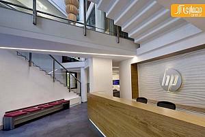 طراحی داخلی دفتر نمایندگی HP