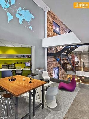 طراحی داخلی دفتر اداری بین المللی Havas در نیویورک