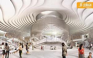 معماری و طراحی داخلی کتابخانه ای در چین،  اثر گروه MVRDV