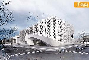 طراحی ساختمان اداری با نمای سنتی