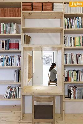 بازسازی و تغییرکاربری یک واحد آپارتمان مسکونی به کتابفروشی