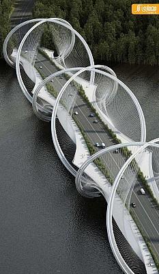 طراحی پل با الهام از نماد المپیک