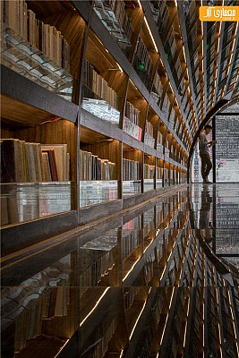 استفاده از رفلکت عناصر در طراحی داخلی کتابخانه