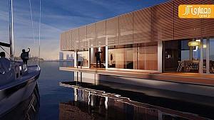 طراحی خانه ی شناور و لوکس