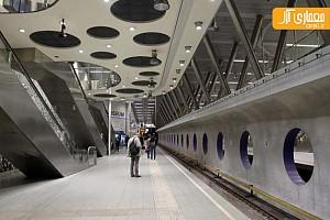 ایستگاه مترو ویلمیناپلین هلند در عمق 16 متری