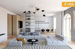 نمونه منزلی با طراحی داخلی مدرن