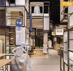 فروشگاه پوشاک زنانه با طراحی داخلی مدولار